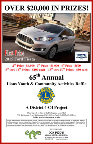 Lions/Leos Youth & Community Activities (LYCA) Raffle Program April 10, 2015