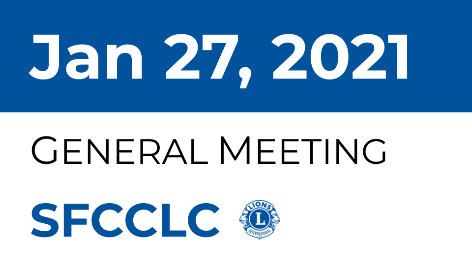 [SFCCLC] Sfcclc meeting is tonight 7 pm. 1/27/2021